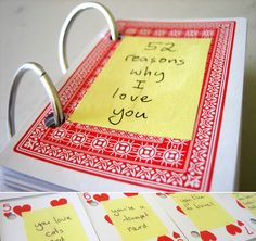 romantic craft: 52 reasons why I love you