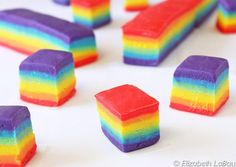 This Colorful Rainbow Fudge is an Eye-Catching Party Favorite