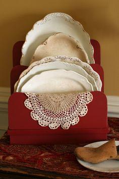 Cute idea...Mamie Jane's: red display piece