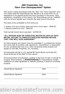 Free EARN YOUR DOWN PAYMENT Printable Real Estate Forms