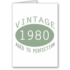 1980 birthday cards | 1980 Vintage Gifts Greeting Card