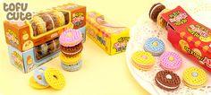 Set of 5 Kawaii Cream Biscuit Erasers