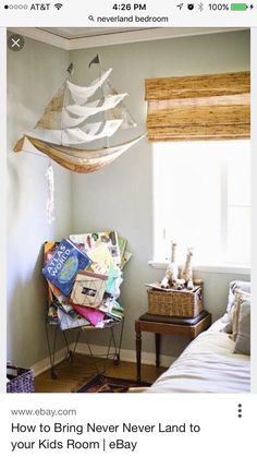 We like the look of the big pirate ship, mounted in the room to give it a Neverland feel.