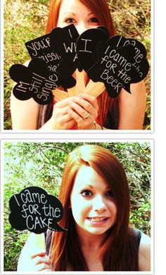 Dialogue bubbles: another great photobooth prop idea.