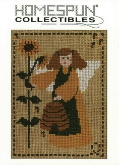 Homespun Collectibles Counted Cross Stitch Angel by straphaelwomen, $2.00