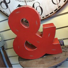 Red Metal Letters