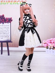 >> Click to Buy << Free shipping! New Arrivals! High Quality! Black Bow Long Sleeves Cotton Punk Lolita Dress #Affiliate