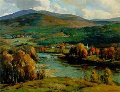 A river in autumn (No.4) - Aldro Thompson Hibbard