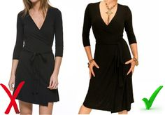 party outfits for the apple shape | Fabric is key with a wrap dress as you want it to flatter your figure ...