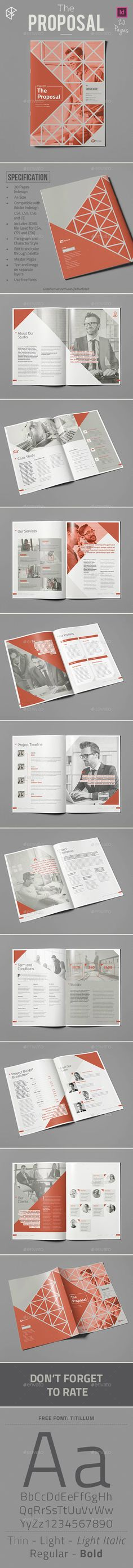 construction proposal templates%0A The Proposal Template InDesign INDD  Download here  http   graphicriver net