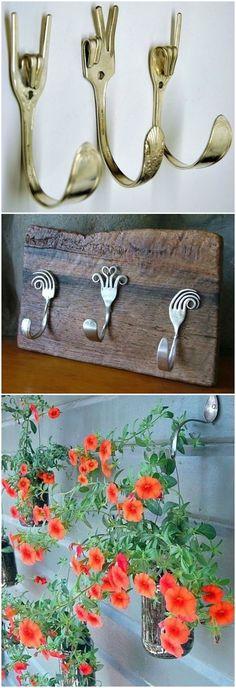 Manualidades diy con cubiertos. www.ecodecomobiliario.com: