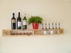 Wall shelf made of Euro pallets * pallets * pallet shelf * shelf * Shabby * unique * furniture * pallet * kitchen * living room * pallet furniture Decor, Pallet Shelves, Selling Furniture, Shabby, Home Decor, Container House, Creative Living, Pallet Furniture, Diy Kitchen