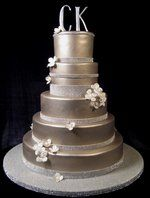 Pewter wedding cake