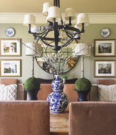 Equestrian Dining Room Beth Hart Designs One Design Southern Homes