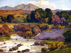 William Wendt (1865 - 1946). Saddleback Mountain, Mission Viejo, 1923. Oil on Canvas. 30 x 40 in (76.2 x 101.6 cm)