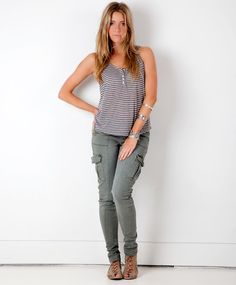 Skinny Cargo Pants. I want some of them!