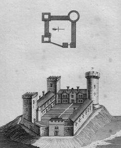 1784 print of the Cambridge castle