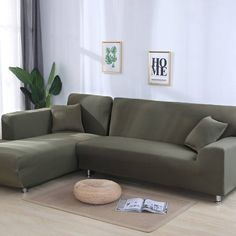 solid color corner sofa covers for living room elastic spandex slipcovers couch cover stretch sofa towel L shape need buy Living Room Sectional, Home Living Room, Sectional Sofa, Living Spaces, Corner Sofa Covers, Couch Covers, Cushion Covers, Three Seater Sofa, L Shaped Sofa