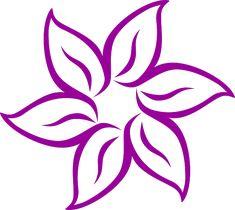 Immagine gratis su Pixabay - Fiore, Purple, Disegno, Petali