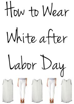 Not sure what to do with your white jeans and dresses now that we're past Labor Day? Here are three great outfits to inspire you! #fallstyle