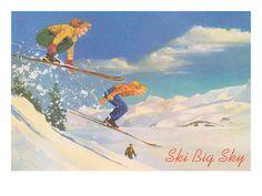 Ski Big Sky, Montana vintage poster