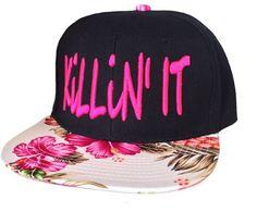KILLIN IT 3D Flat Bill Snapback Hat Hip Hip Cap Floral Bill on Etsy, $22.00