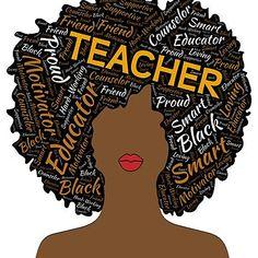 'Artistic Teacher Afro for African American Women' Relaxed Fit T-Shirt by blackartmatters Black Girl Quotes, Black Women Quotes, Black Girl Art, Black Girl Magic, Black History T Shirts, Black History Month, Black Lives Matter Quotes, Black Royalty, Black Girl Cartoon