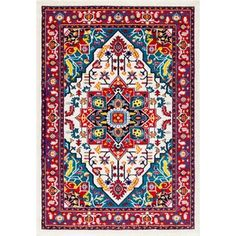 nuLOOM Vibrant Floral Persian Multi Rug (5' x 8') - Free Shipping Today - Overstock.com - 19427448 - Mobile