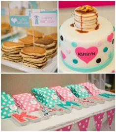 Pancakes and Pajamas themed 2nd birthday party via Kara's Party Ideas KarasPartyIdeas.com Cake, printables, decor, games, supplies, and more! #pajamaparty #breakfastparty #karaspartyideas (2)