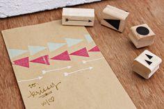 KARA Geometric Tribal Stamp Set. $44.00, via Etsy.