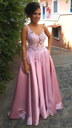 Cheap long evening gowns, Buy Quality evening gown directly from China evening dresses long Suppliers: Custom Made 2017 Evening Dresses Long Appliques Vestido De Festa Sheer Prom Dress Elegant Robe De Soiree Long Evening Gown Pink Prom Dresses, A Line Prom Dresses, Prom Party Dresses, Evening Dresses, Bridesmaid Dresses, Party Gowns, Dress Party, Wedding Dresses, African Wedding Dress