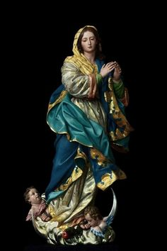 Wonderful statue of Our Blessed Lady. Catholic Religion, Catholic Art, Catholic Saints, Blessed Mother Mary, Blessed Virgin Mary, Religious Images, Religious Art, Virgin Mary Statue, Mama Mary