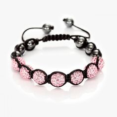 Handmade Adjustable Cord Beaded Bracelet Pink