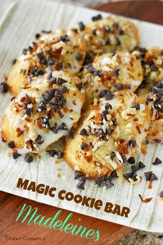 Magic Cookie Bar Madeleines - Yummy Crumble