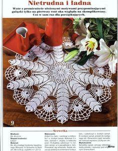 Serwetki okragle z netu - Mirka Bień - Picasa Web Albums Crochet Quilt, Crochet Tablecloth, Crochet Books, Love Crochet, Filet Crochet, Crochet Gifts, Crochet Shawl, Crochet Doilies, Doily Patterns