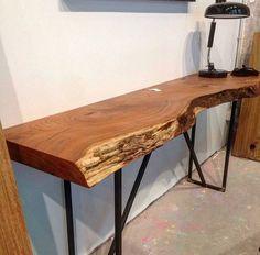 mesa de centro de tronco