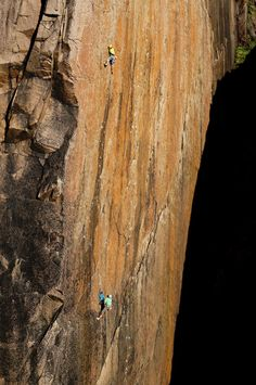 Hank on for dear life - John McCune on the upper wall of The Second Coming (E7 6b). Credit: Craig Hiller