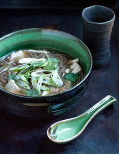 Asian Noodle Soup with #Cilantro & Green Onions 15 Chicken #Noodle Soup #Recipes | Yummy Recipes