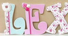 Custom Nursery Letters Baby Name Shabby Chic by TheRuggedPearl