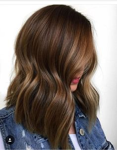 Mid length modern hair with highlights