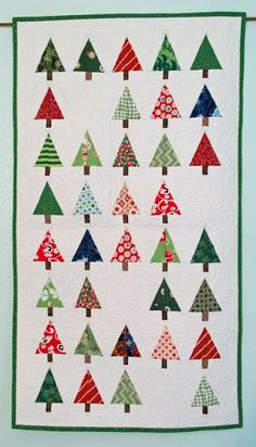 Tutorial on how to make these darling Christmas tree blocks! Just love it!