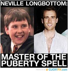 Puberty Transformation - http://www.clickypix.com/puberty-transformation/ #HarryPotter, #NevilleLongbottom, #Puberty, #Transformation