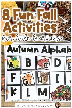Need some fun, fall activities for kids this autumn? This post is packed with ideas for engaging activities for toddlers and preschool learners. Click the pin to check out these 8 activities that are sure to keep your little learners engaged and having fun!