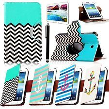 360 Rotating PU Leather Case Cover For Samsung Galaxy Tab 3 7.0 P3200 P3210 New