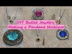 DIY Making A Bullet Jewelry Pendant Necklace