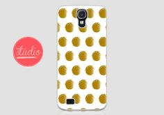 old Painted POLKA DOTS - Samsung Galaxy s4, Galaxy s3 #gold #dots #polkadots #chic #case #spring #galaxy