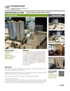 MX17-DN3703 Departamento en venta en Av. Rio San Joaquìn, Ampliación Granada, Miguel hidalgo, Ciudad de México, Mexico. $5,542,000 MXN ¡Llamanos! (55) 53740834