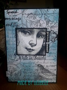 card made with rubber stamps and mixed media by http://lillibelles.blogspot.de