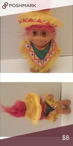 """Vintage Mexican Red hair Russ troll 5"""" Hey Troll Fans!!!  This is a 5"""" vintage Troll! Please see pictures and ask any questions before buying russ Other"""