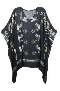 Marissa-Black-Back-Poncho-Micromodal.jpg #poncho #newyork #wholesale #fashion #modal #rich #Luxe #unique #floral #folklore and #lace #watercolor  #print #scarf #wrap  #floral by #elizabethgillett @elizabethgillett #bohofashion